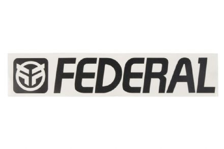 Federal 170mm Die Cut Sticker - Black